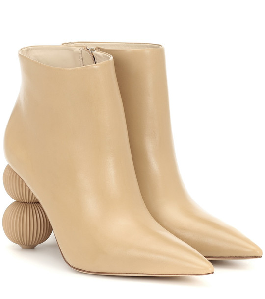 Cult Gaia Cam leather ankle boots in beige