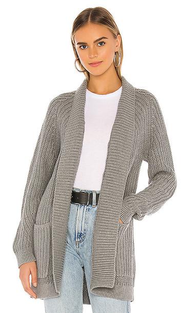 Bobi BLACK Cozy Cotton Cardigan in Gray