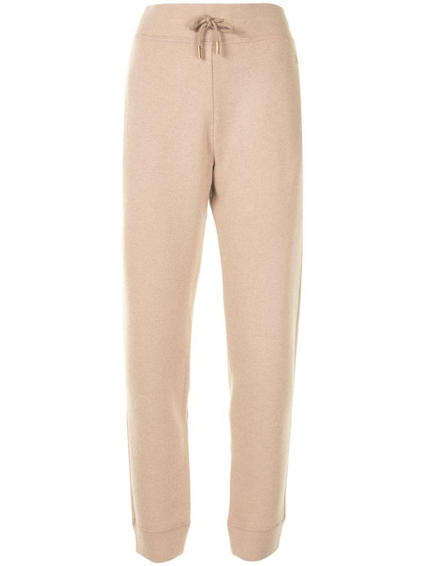 Bally embroidered-logo track pants in neutrals