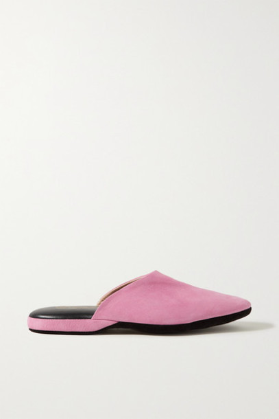Charvet - Suede Slippers - Baby pink