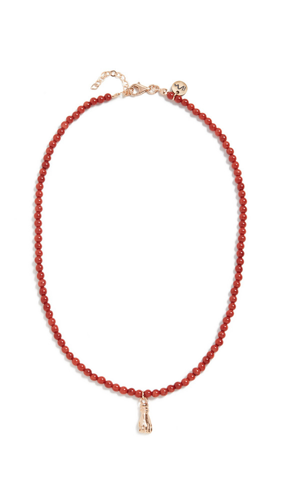 Maison Irem 18k Light My Fire Necklace in red