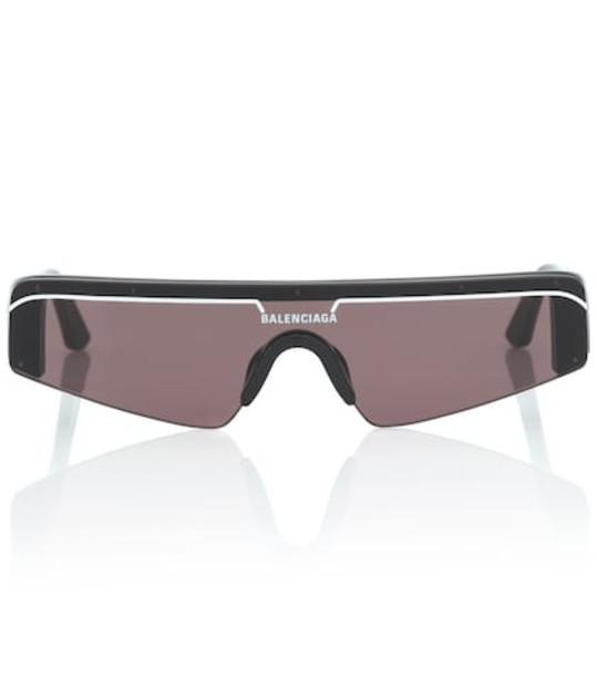 Balenciaga Ski rectangle sunglasses in black