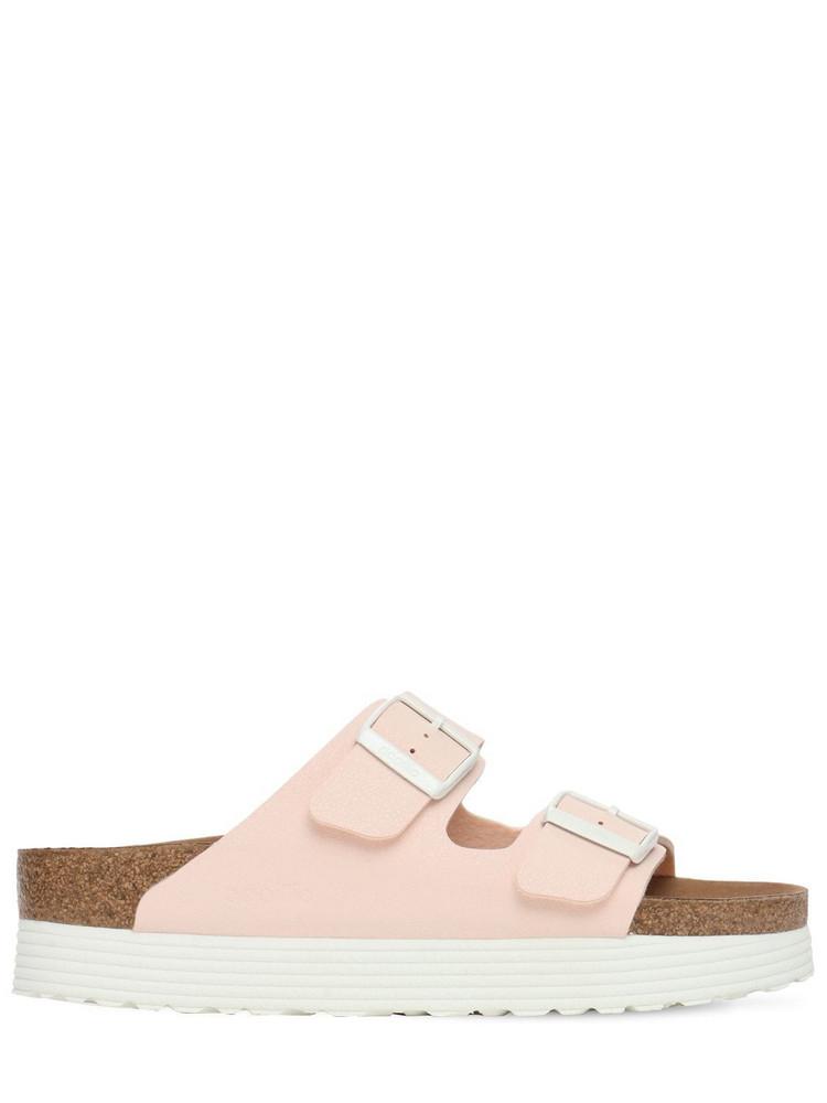 BIRKENSTOCK Papillo Faux Leather Platform Sandals in pink