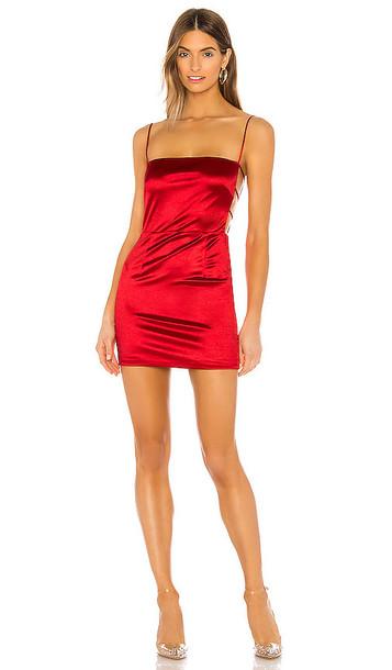 superdown Kait Cut Out Mini Dress in Red