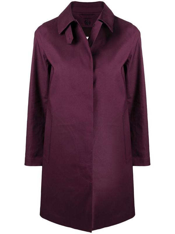 Mackintosh Dunoon coat - LR-1005D in purple