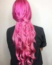 hair accessory,ultra pink princess hairstyle