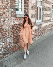 shoes,platform shoes,mini dress,long sleeve dress,woven bag