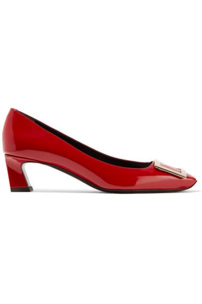 Roger Vivier - Belle Vivier Patent-leather Pumps - Red