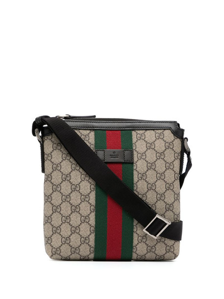 Gucci Pre-Owned monogram Sylvie Web detail crossbody bag in brown
