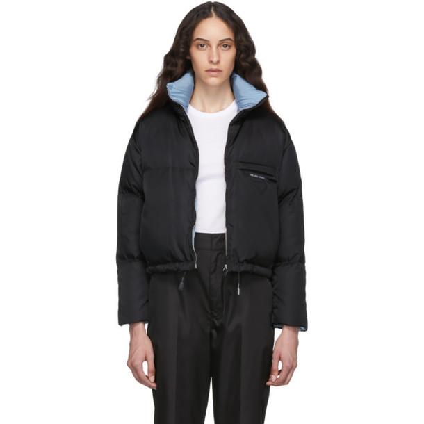 Prada Black Down Cropped Jacket
