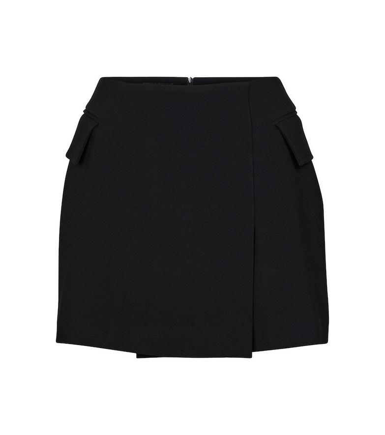 Alex Perry Izzy crêpe satin miniskirt in black
