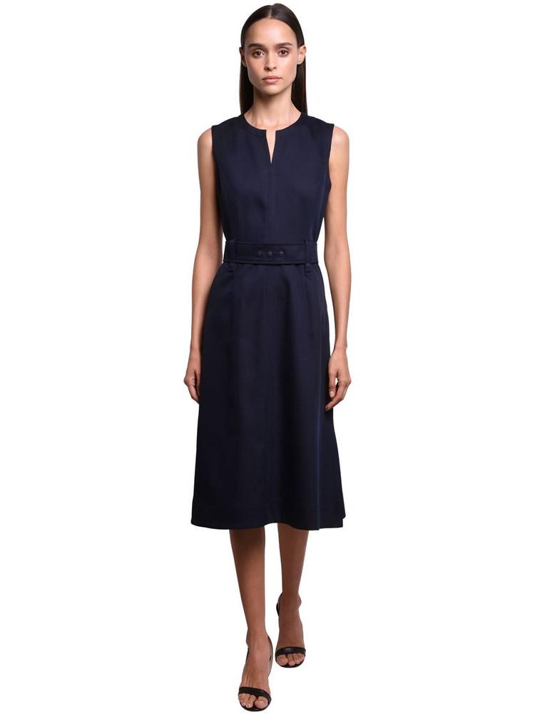 SPORTMAX Cotton & Viscose Gabardine Dress in navy