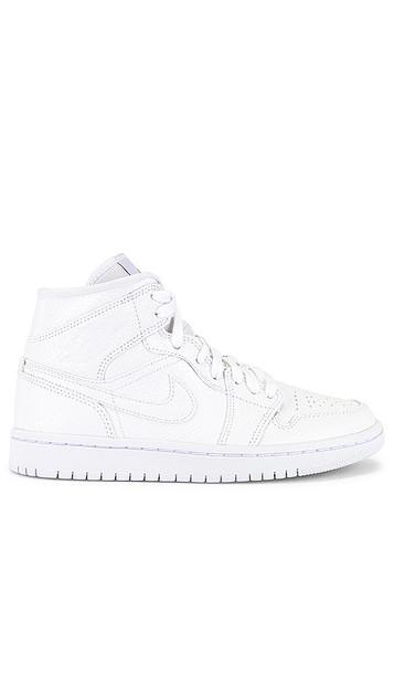 Jordan Air Jordan 1 Mid Sneaker in White