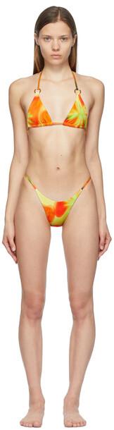 Louisa Ballou Orange Mini Ring Triangle Bikini