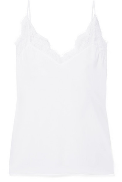 Cami NYC - The Marisol Lace-trimmed Gauze Camisole - White
