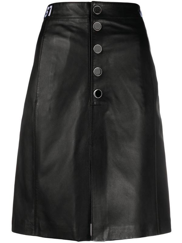 Just Cavalli button-through A-line skirt in black