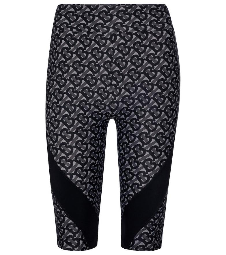 Burberry Printed biker shorts in grey