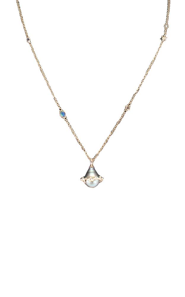 Bibi van der Velden Orb 18K Rose Gold And Multi-Stone Necklace in grey