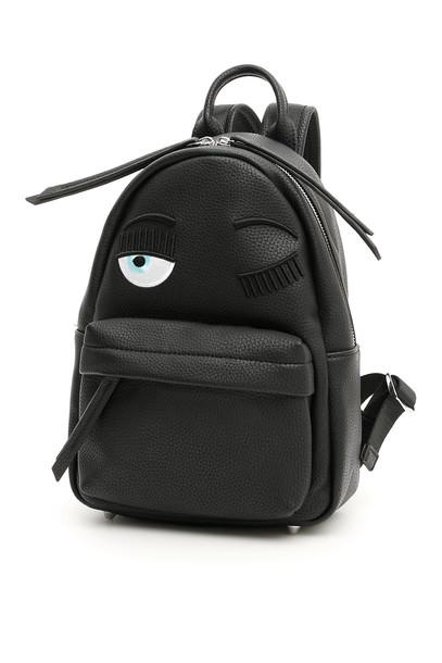 Chiara Ferragni Small Flirting Backpack in black