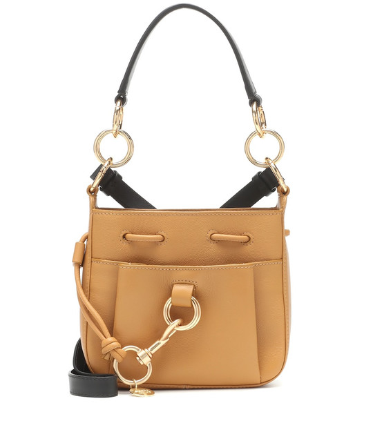 See By Chloé Tony Small leather bucket bag in yellow
