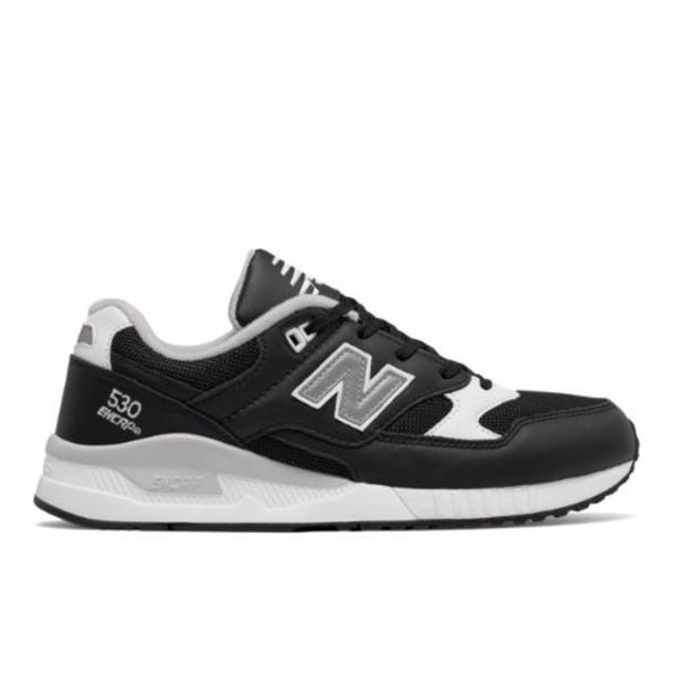 New Balance 530 Leather Men's Running Classics Shoes - Black/White/Grey (M530LGB)