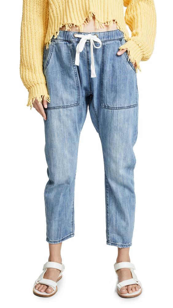 One Teaspoon Shabbies Drawstring Boyfriend Jeans in blue