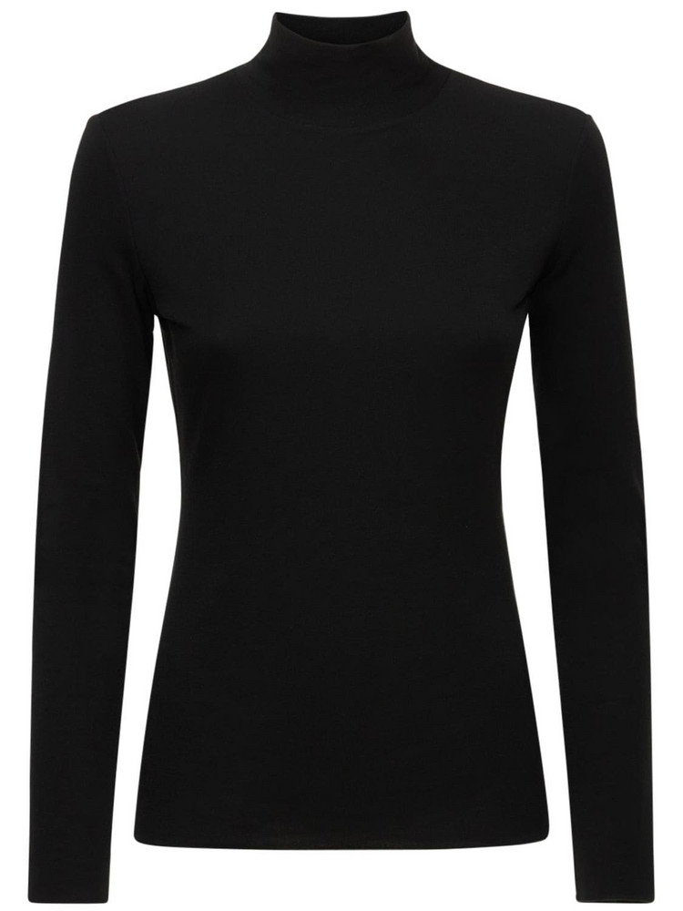 THE ROW Dembe Tencel Blend Knit Sweater in black