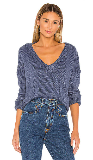 Privacy Please Dragon Fruit Sweater in Blue