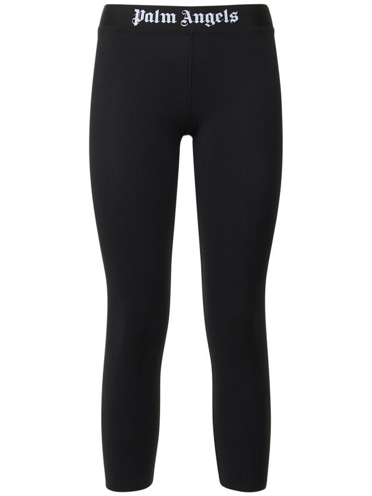 PALM ANGELS Classic Logo Stretch Jersey Leggings in black