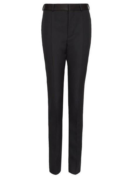 Haider Ackermann - Side-stripe Wool Slim-leg Trousers - Womens - Black Multi