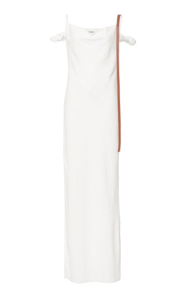 Loewe Leather Strap Strappy Dress Size: 38 in white
