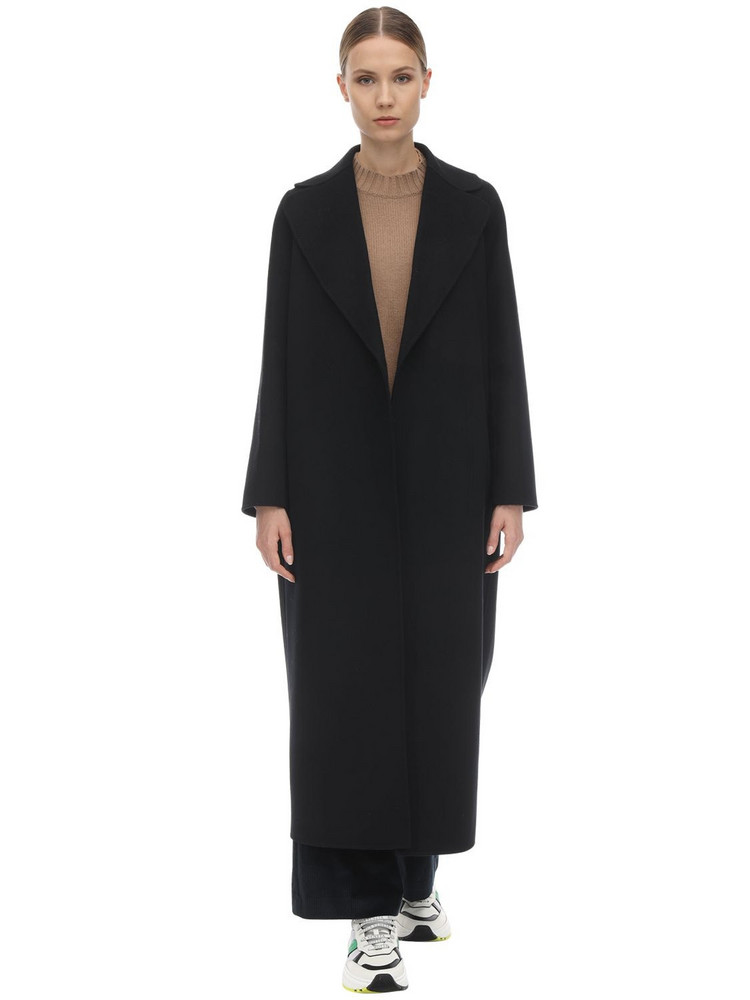 MAX MARA 'S Poldo Belted Wool Coat in black