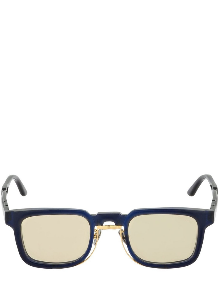 KUBORAUM BERLIN N4 Double Frame Squared Sunglasses in blue / gold