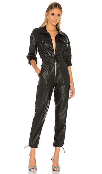 h:ours Vee Jumpsuit in Black