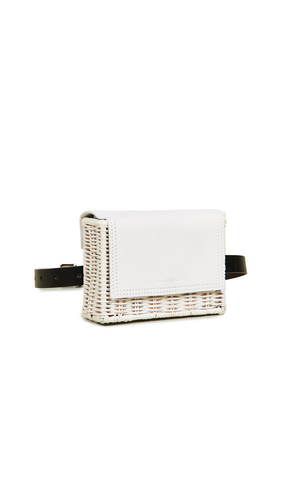 Wicker Wings Tao Clutch in white
