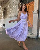 dress,midi dress,satin dress,sandal heels,belt