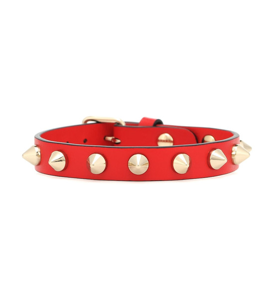 Christian Louboutin Loubilink leather bracelet in red