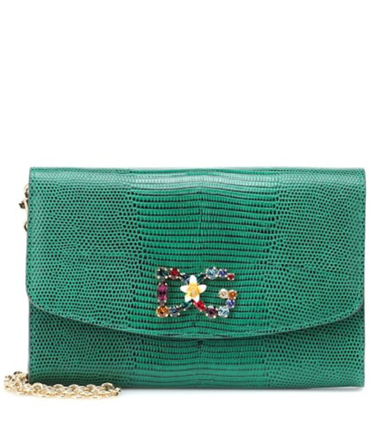Dolce & Gabbana Wallet leather shoulder bag in green