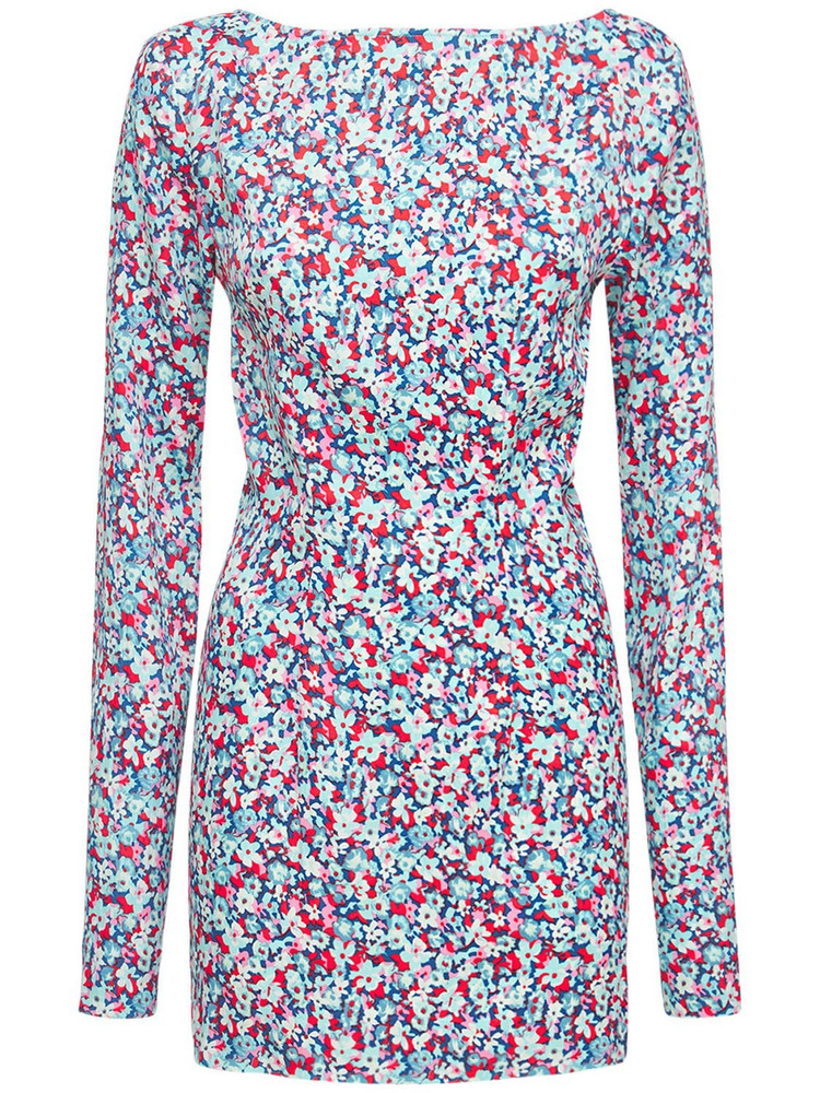 ROTATE Alyssa Printed Long Sleeve Mini Dress