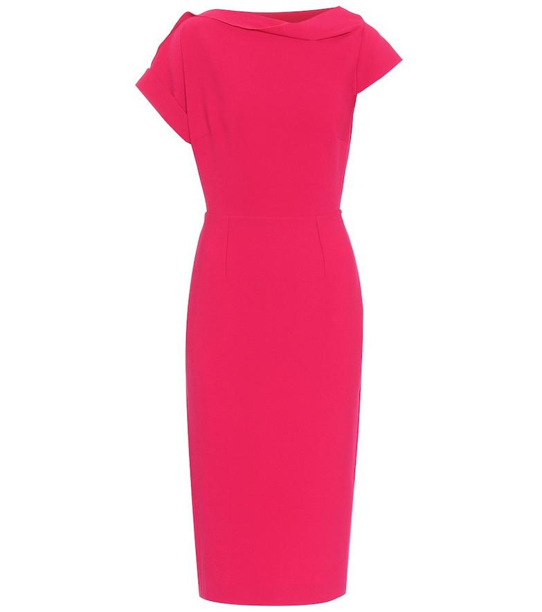 Roland Mouret Brenin stretch-crêpe dress in pink