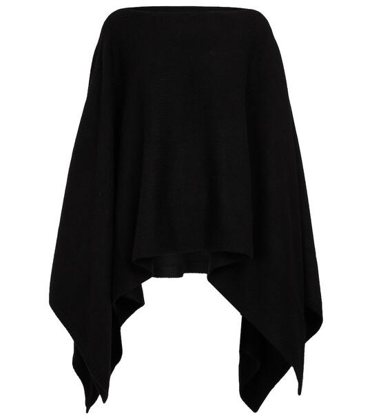 JOSEPH Turtleneck cashmere poncho in black