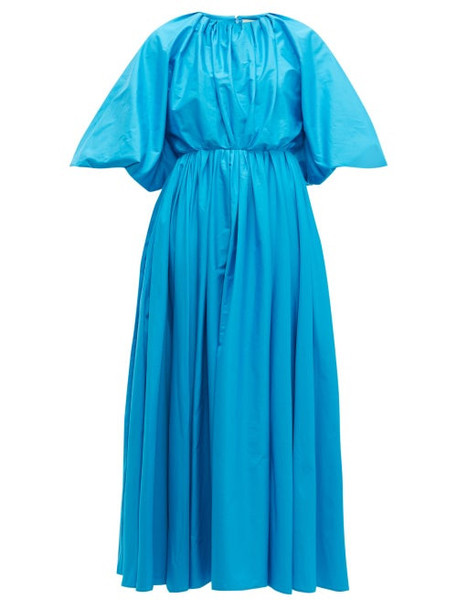 Roksanda - Medeya Bubble Sleeve Cotton Maxi Dress - Womens - Blue