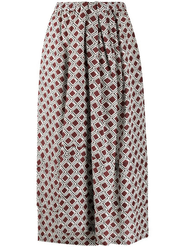 Christian Wijnants mosaic print A-line skirt in white