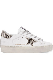 zebra,hair,sneakers,platform sneakers,leather,white,print,shoes