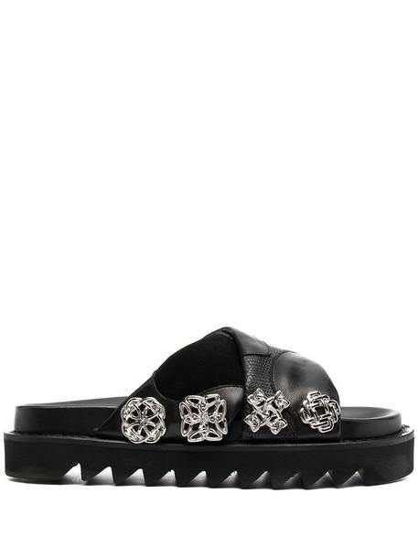 Toga Pulla embellished open-toe sandals in black