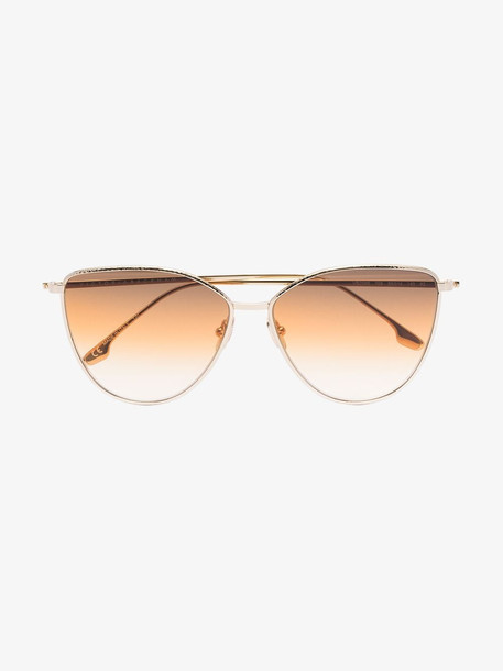 Victoria Beckham Eyewear cat-eye frame sunglasses in gold