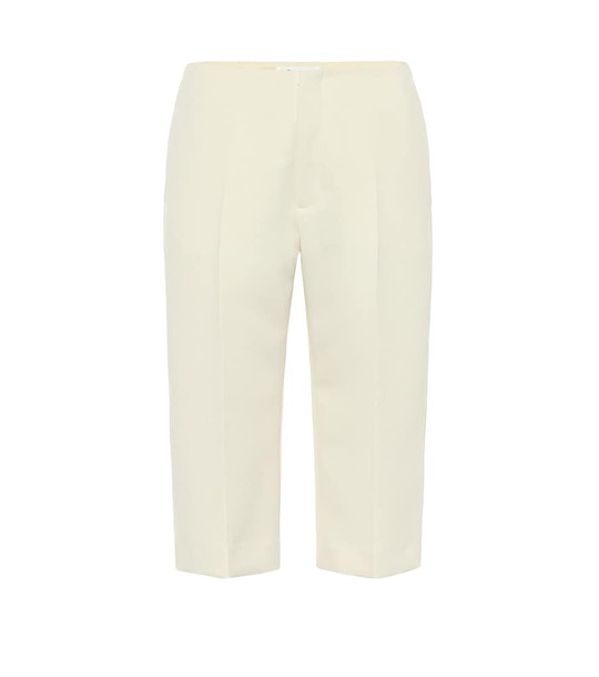 Maison Margiela High-rise slim twill shorts in white