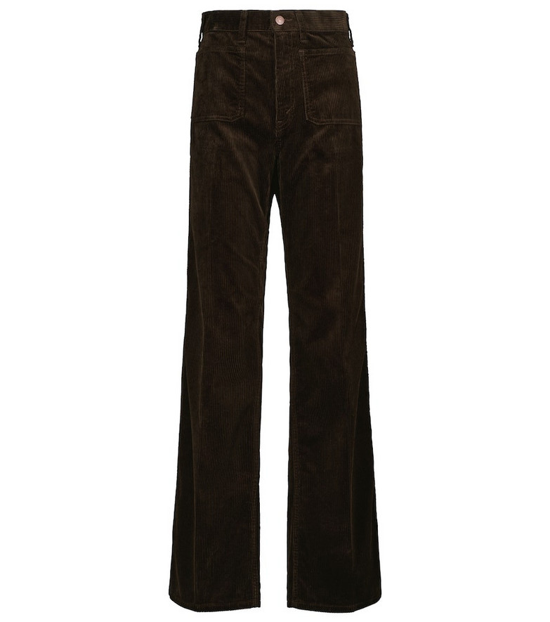Polo Ralph Lauren High-rise corduroy flared pants in brown
