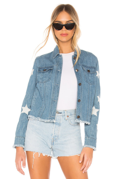 cupcakes and cashmere Affleck Jacket in denim / denim