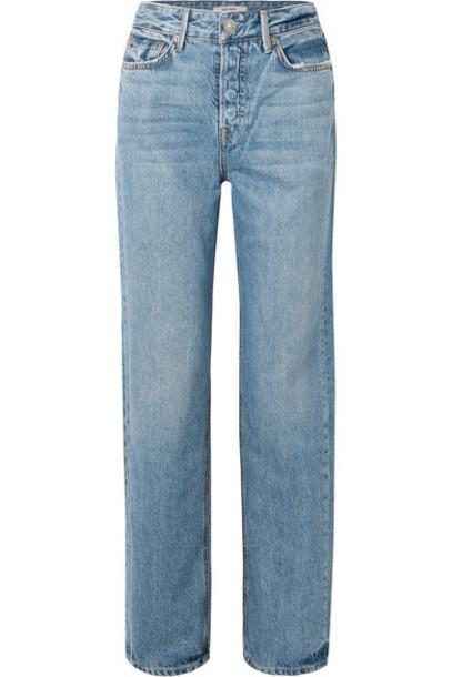 GRLFRND - Mica High-rise Straight-leg Jeans - Mid denim